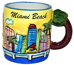Miami Handpainted Yellow Skyline Selection of Mugs (Mini Mug)