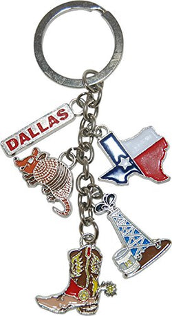 American Cities and States Metal Quality Keychains (Houston Keychain)