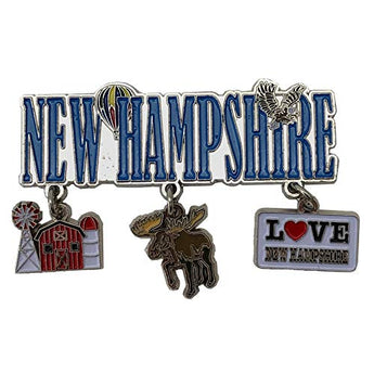 New Hampshire 3 Charm Magnet for Creative Home Decor Accessories Travel Perfect Souvenir Gift