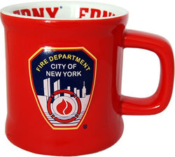 Large FDNY Red Coffee Mug Officially Licensed by Fire Department of New York