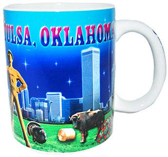 State of Oklahoma Beautifully Designed 11 Ounce Coffee Mug- Featuring Tulsa