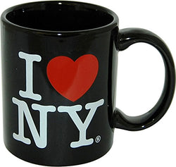 I Love New York Colorful Mugs- 11 oz Double Sided I Love NY Mugs in Colors Yellow, Pink, Orange, Blue, Purple, Black and White Souvenirs