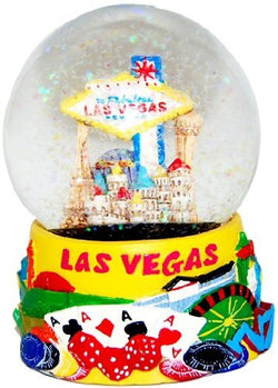 Great Places To You Las Vegas Glitter Snow Globe - Yellow 65MM