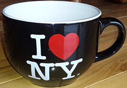 I Love NY Oversize Jumbo Black Soup Coffee Mug Cup