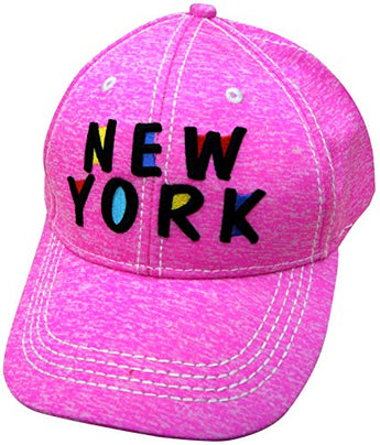 Embroidered New York Pink Cap - Fashionable Unisex Cotton Adjustable Distressed New York City Baseball Cap - Cap for Dad - Perfect Souvenir Gift for Men, Women & Kids