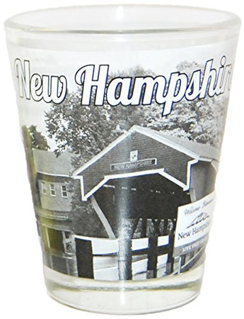 State of New Hampshire Scenic Photo Printed Shot Glass