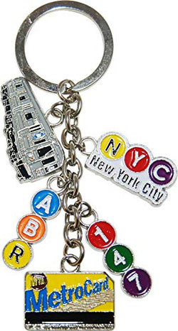 American Cities and States Metal Quality Keychains (MTA)