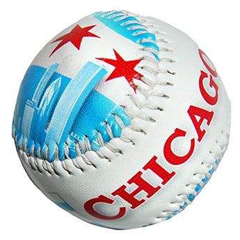 Chicago City Souvenir Baseball with Beautiful Skyline Design | Perfect Souvenir Gift Collection