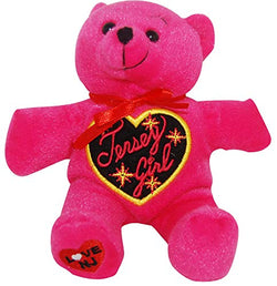 CityDreamShop New Jersey, Jersey Girl Design Souvenir Pink Plush Bear