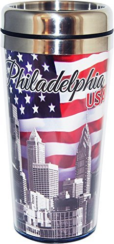 Collection of City Branded Beautifully Designed Travel Mugs (Philadelphia)