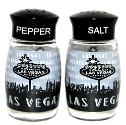 Las Vegas Black and White Repeat Salt and Pepper Shaker Set