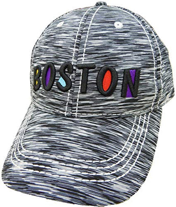 Embroidered Boston Stylish Cap | Fashionable Unisex Cotton Boston Baseball Cap Trucker Hat | Cap for Dad | Perfect Souvenir Gift for Men, Women & Kids