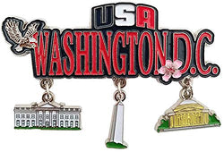 American Cities and States of Magnets (Washington D.C. Patriotic Magnet)