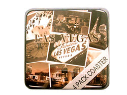 Las Vegas Set of 4 Collage of Las Vegas Designed Drinkware Coasters