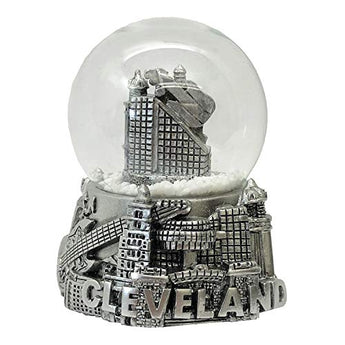 Collection of City and States Detailed 65mm Snow Globes (Cleveland Snow Globe)