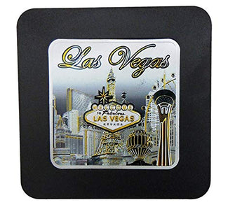 Las Vegas Skyline Coaster with Welcome Sign & Eiffel Tower Design | Coaster for Men & Women | Perfect Souvenir Gift Collection