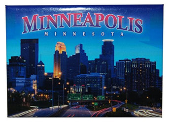 Minneapolis Skyline Refrigerator Magnet Souvenir