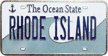 USA-States License Plate Magnets (Rhode Island)