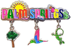Palm Springs California 3 Charm Dangle Magnet