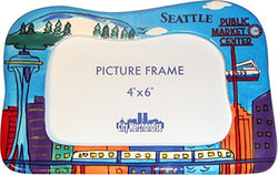 CityDreamShop Seattle Hand Painted Designer 4x6 Picture Frame of the Iconic Seattle Skyline