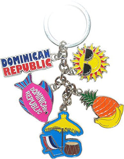 American Cities and States Metal Quality Keychains (Dominican Republic)