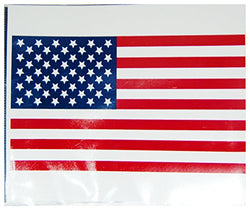 CityDreamShop Sticker for Car Bumper Travel Luggage Laptop iPad (USA Flag)