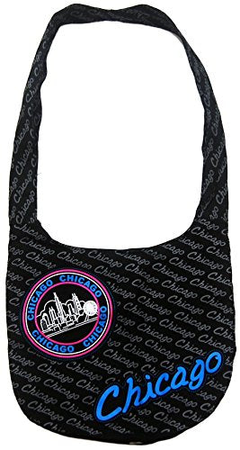 Chicago Repeat with Skyline patch LARGE Souvenir Designed Bag