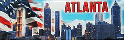 Atlanta Skyline Refrigerator Magnet Featuring the American flag