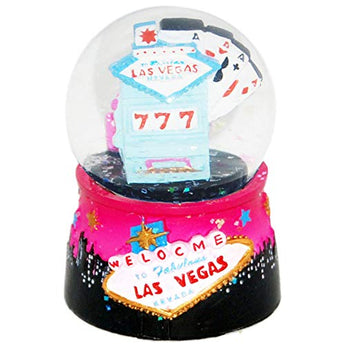 Las Vegas City with Welcome Sign Skyline Snow Globe Novelty Home Decor Showpiece