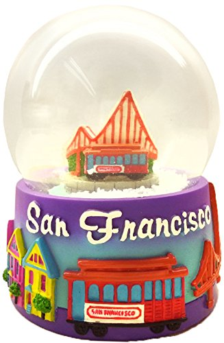 CityDreamShop San Francisco Golden Gate Bridge Souvenir Snow Globe