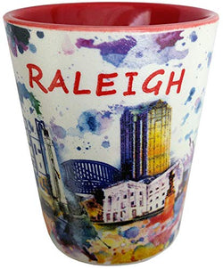 Raleigh North Carolina Shot Glass Souvenir Drinking Cup