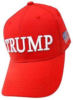 Donald Trump Keep America Great 2020 Hat in Bright Red with Embroidery on Both Sides