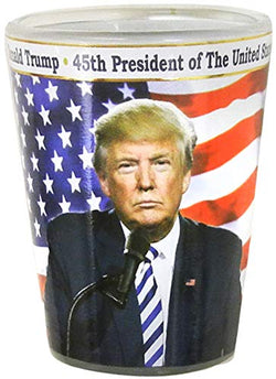 Donald Trump themed shot glass: 45th president of the united stated of america: shot glass keep america great