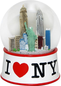 Official I Love New York Snow Globe (2.5 Inches Tall) (45mm Globe)