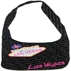 CityDreamShop Welcome To Las Vegas LARGE Souvenir Designed Bag, Black