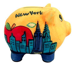 Hand painted New York City Piggy Bank- Work of Art