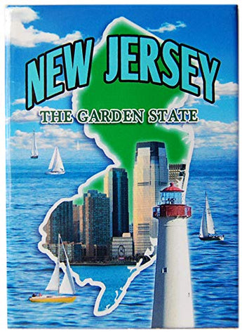 State of New Jersey Souvenir Photo Printed Refrigerator Magnet