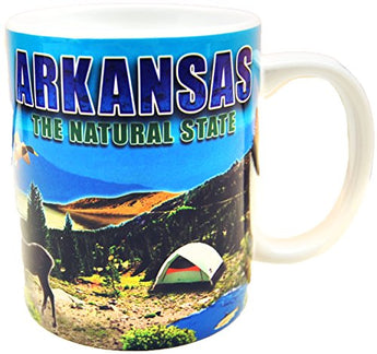 American Cities and States of 11 oz Coffee Mugs (State of Arkansas)