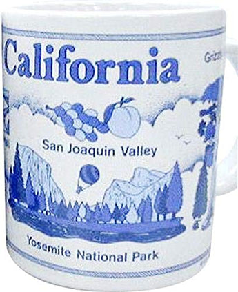 California State Blue Monument Scenic Heavy Solid Base Coffee Mug