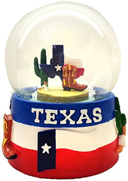 Collection of City and States Detailed 65mm Snow Globes (Texas Snowglobe)