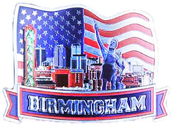Birmingham Alabama Patriotic Refrigerator Photo Magnet