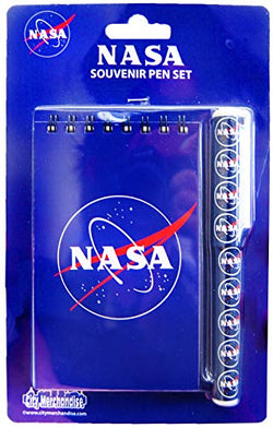 Souvenir Spiral Notebook and Pen with Various Notepad Design (NASA Blue)
