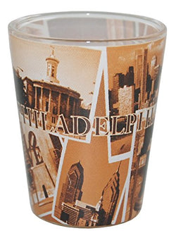 Philadelphia PA Collage of Famous Landmarks Souvenir Shot Glass