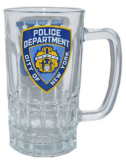 NYPD Official Logo Large Glass Beer Mug