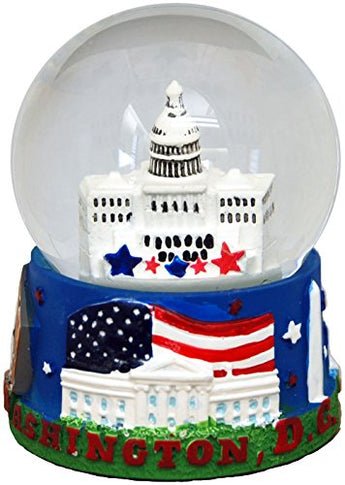 Collection of City and States Detailed 65mm Snow Globes (Washington)