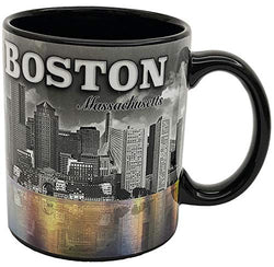 The City of Boston Massachusetts State Skyline Souvenir Long Lasting Durable Ceramic Coffee Mug