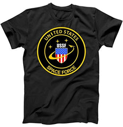 United States Space Force USSF Classic Logo T-Shirt Black Small