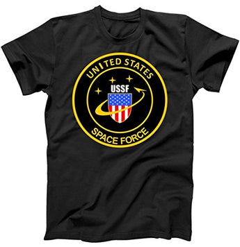 United States Space Force USSF Classic Logo T-Shirt Black Large
