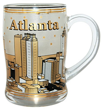 Collection of Designed Beer Mugs from Cities and States Across USA (Atlanta)