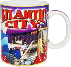 Atlantic City Skyline at Night Collage Coffee Mug